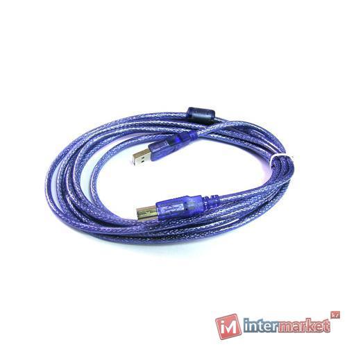 Кабель USB Type A-B, 1.8м, USB2.0,