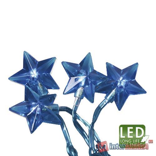 Гирлянда 4,35м синяя Звезда кабель голубой 3м 30диодов LED indoor