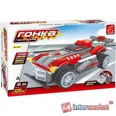 Игровой конструктор, Ausini, 20111, Гонки, Спортивный автомобиль на пульте управления, 185 деталей, Цветная коробка