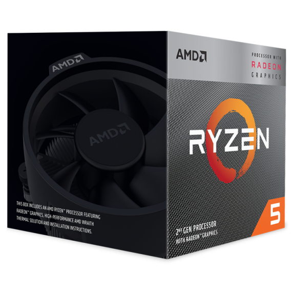 Процессор AMD Ryzen 5 3400G 3,7ГГц (4,2ГГц Turbo) AM4, L3 4Mb, Wraith Spire BOX