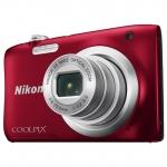Компактный фотоаппарат Nikon CoolPix A100, 20.1Mpx, 4.6-23mm, 5x zoom, JPEG, f/3.2-6.5, 2.7'', Red